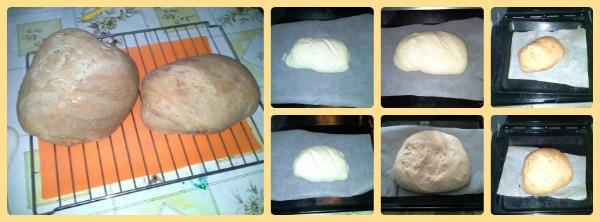 pane con pasta madre colage